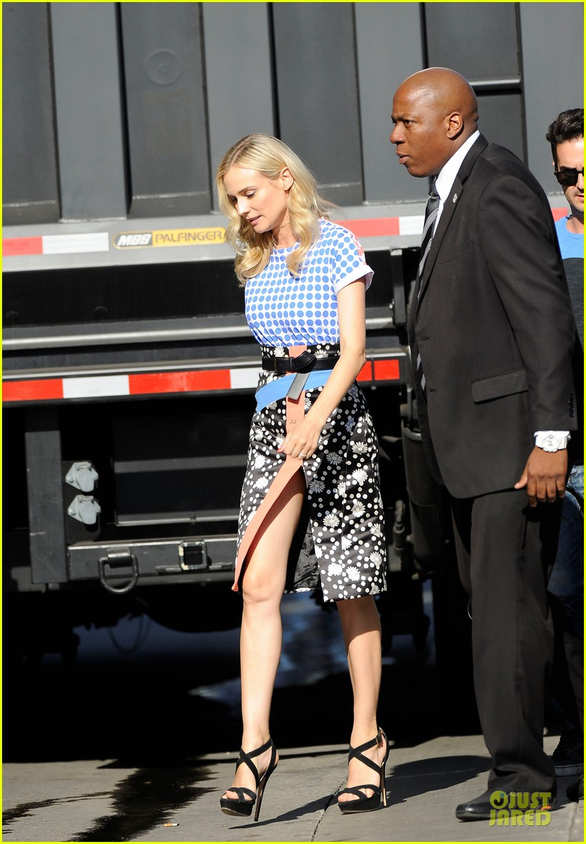 diane kruger the bridge promotion on jimmy kimmel live 062906822