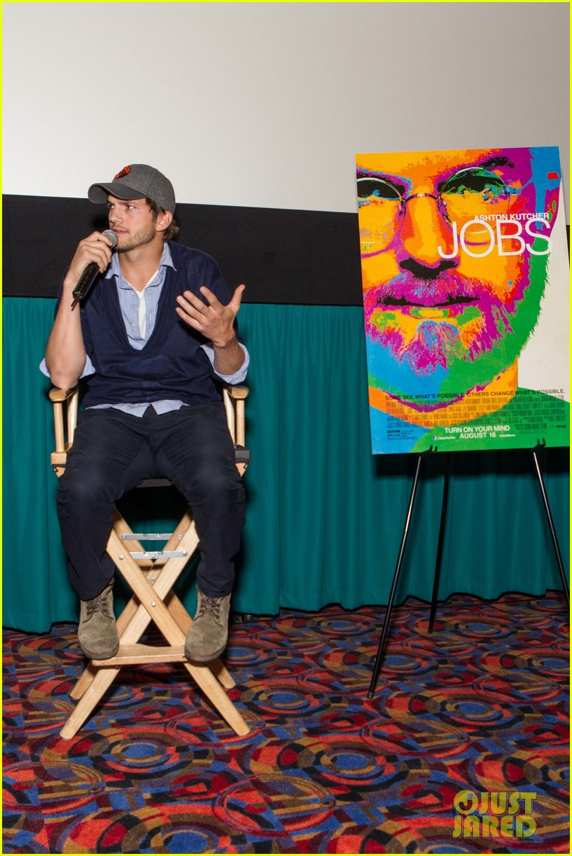 ashton kutcher jobs qa with director joshua michael stern 09