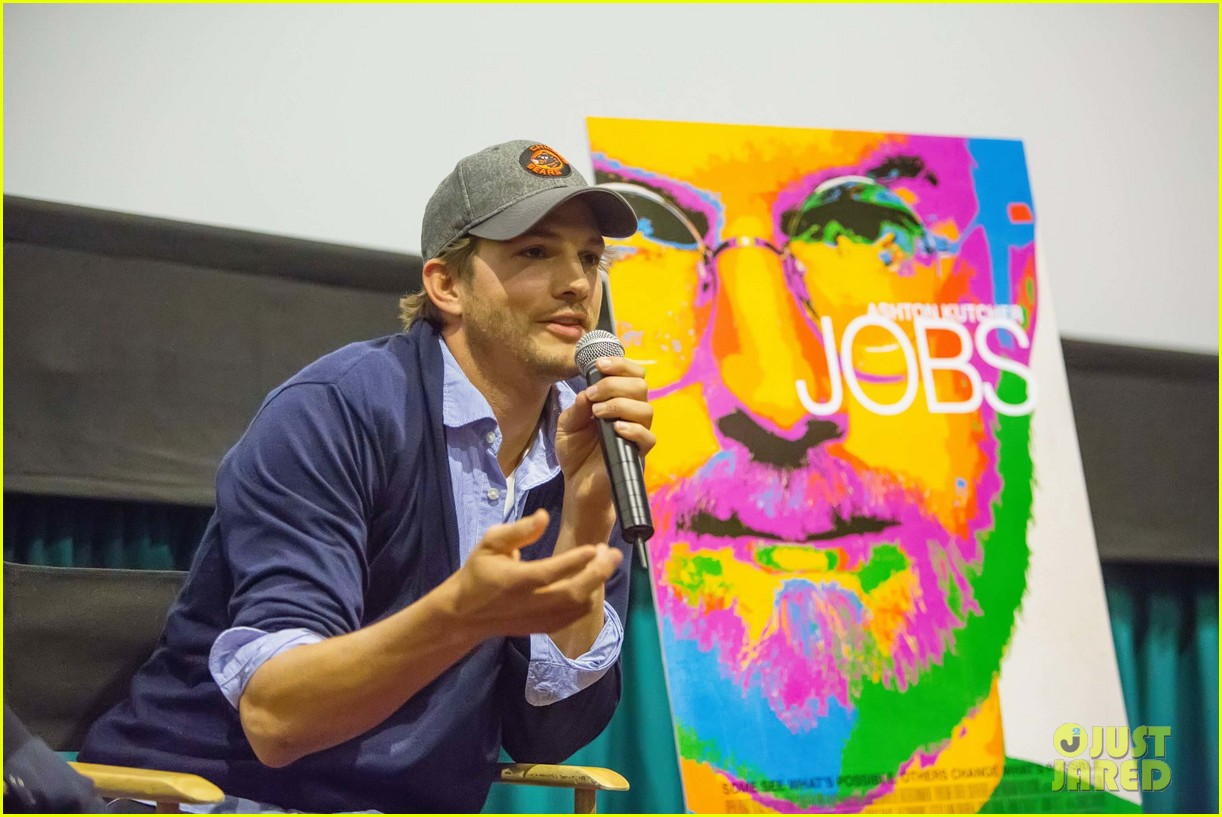 ashton kutcher jobs qa with director joshua michael stern 112917285