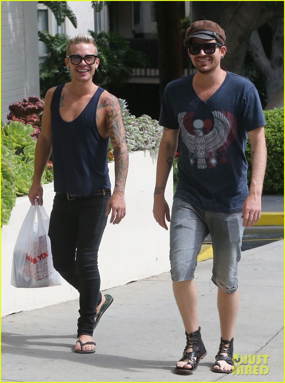 adam lambert steps out with ex sauli koskinen after cory monteith condolence 052909500