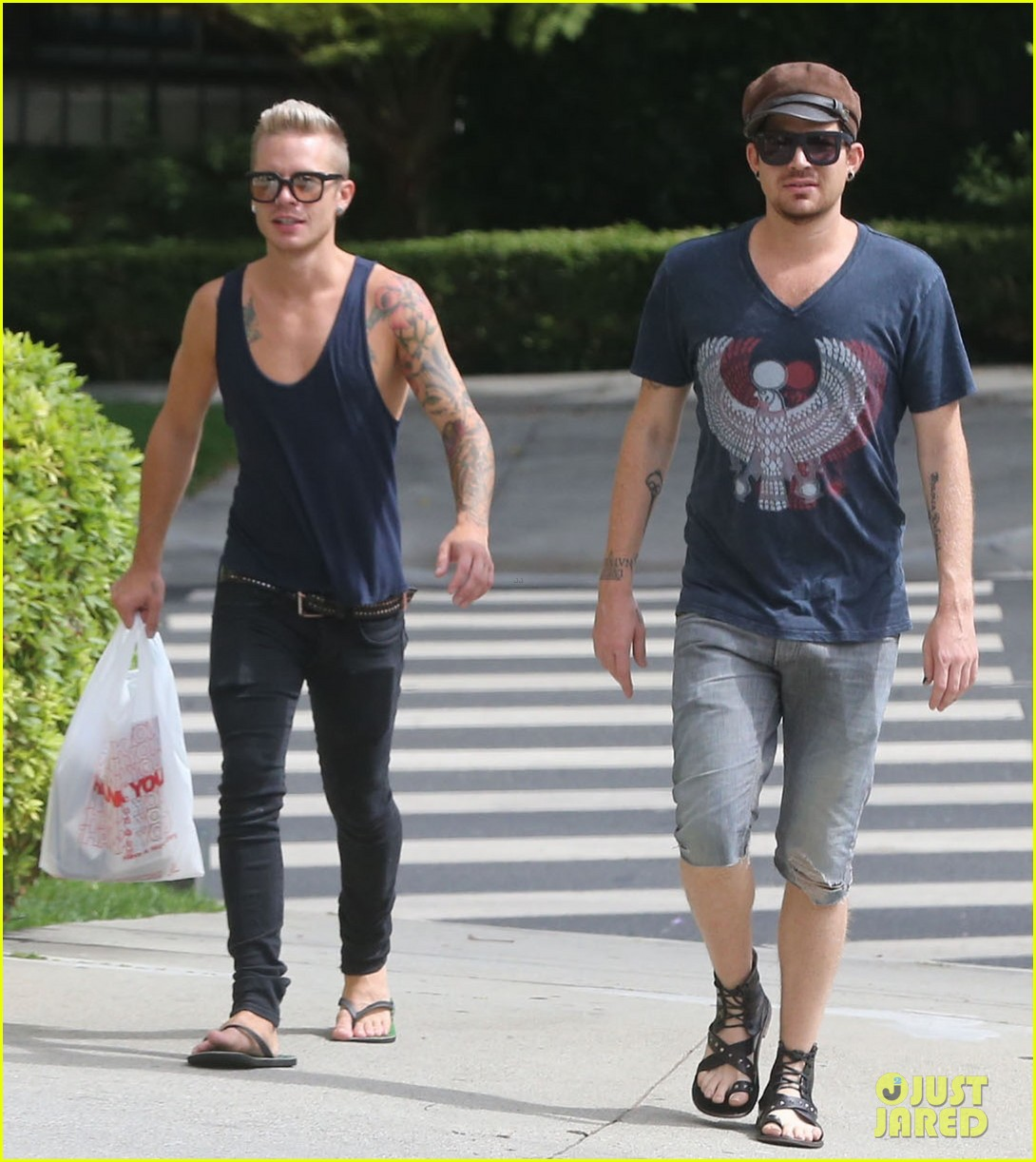 adam lambert steps out with ex sauli koskinen after cory monteith condolence 092909504