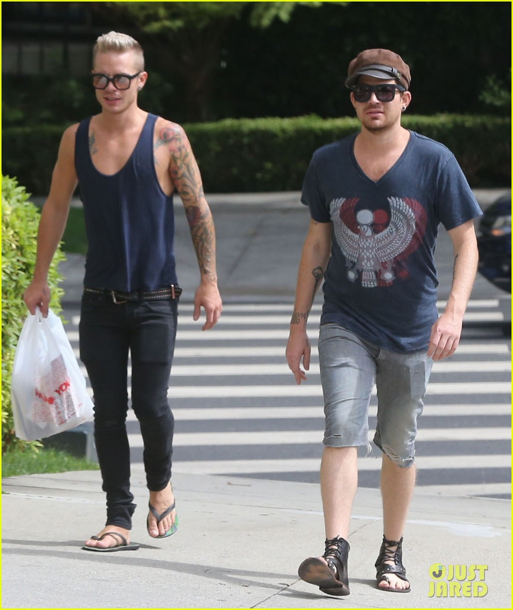 adam lambert steps out with ex sauli koskinen after cory monteith condolence 102909505