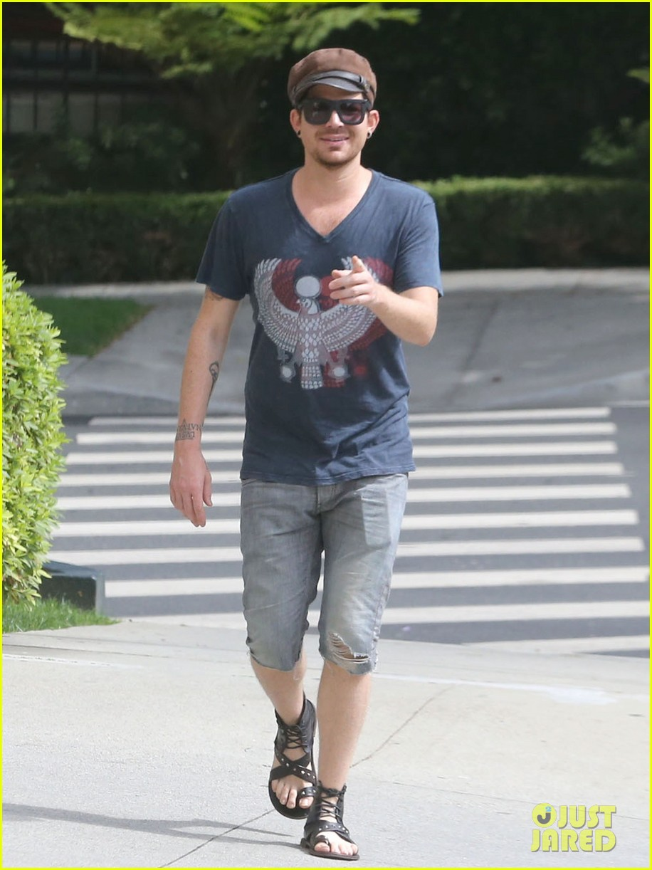 adam lambert steps out with ex sauli koskinen after cory monteith condolence 122909507