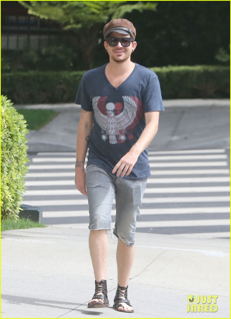 adam lambert steps out with ex sauli koskinen after cory monteith condolence 132909508
