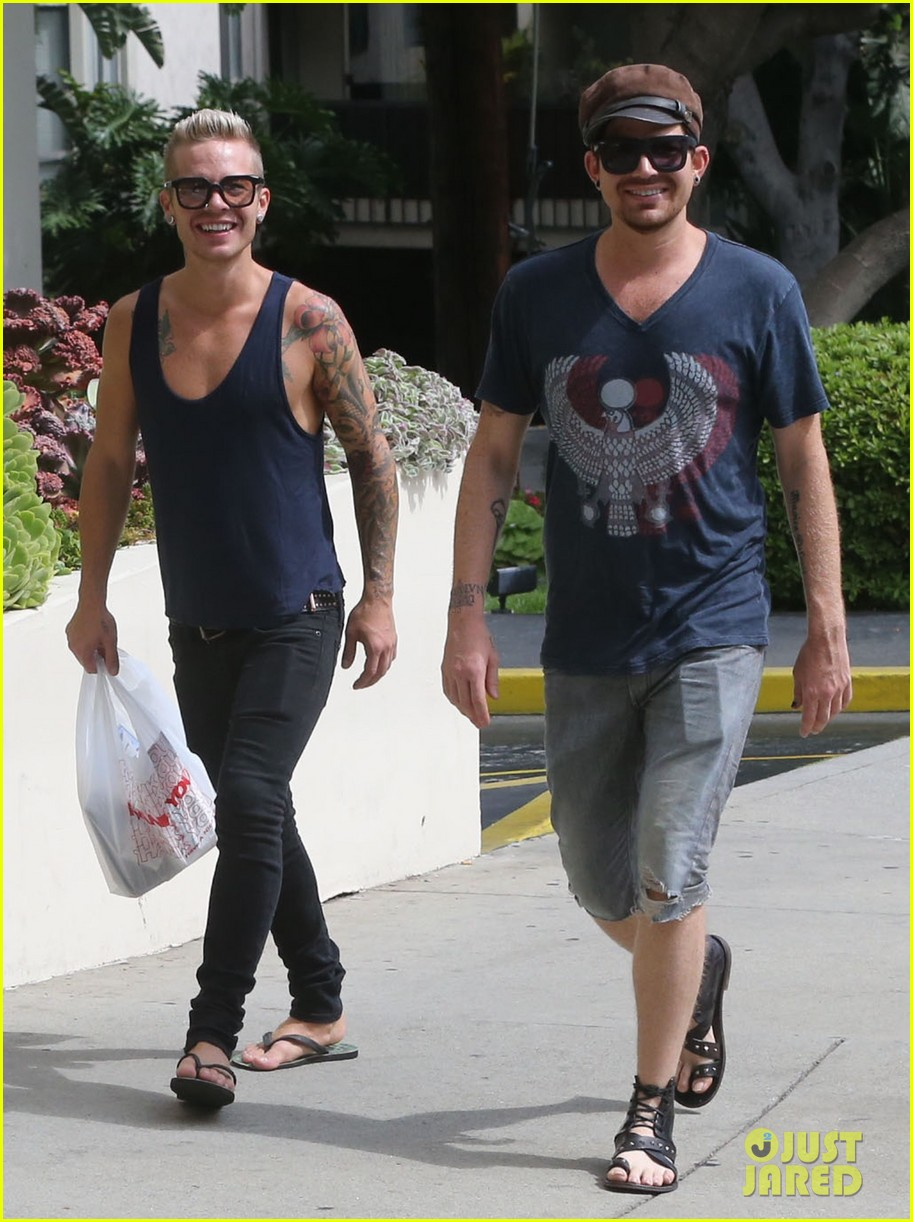 adam lambert steps out with ex sauli koskinen after cory monteith condolence 162909511