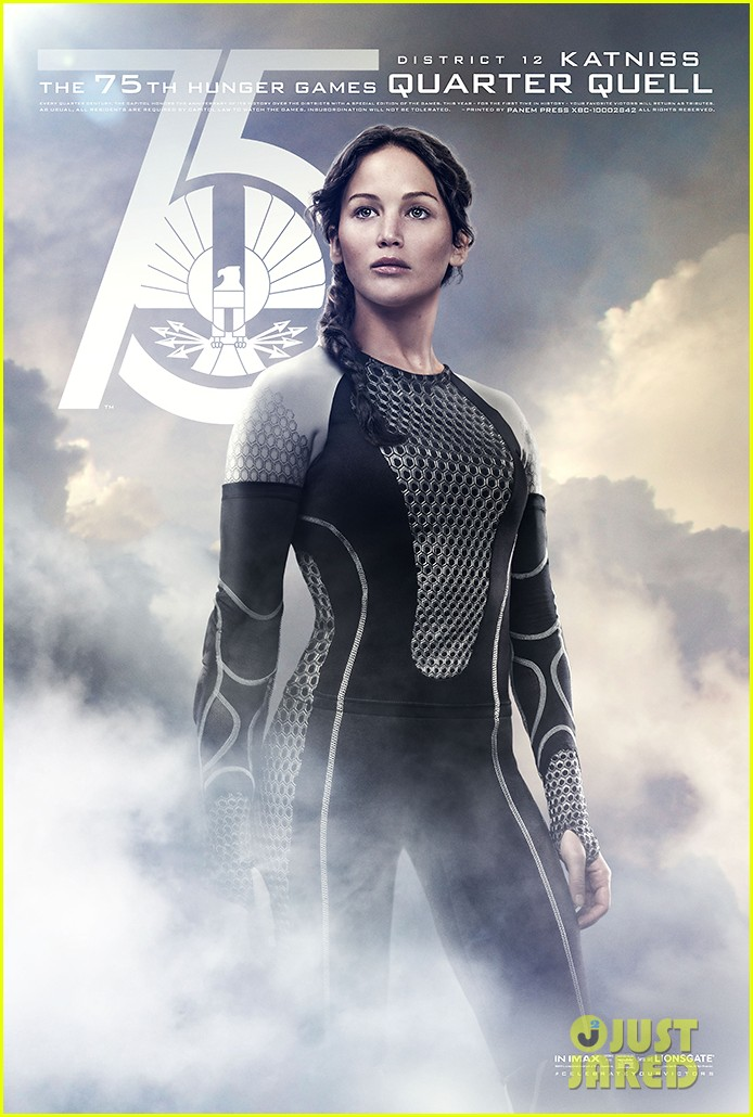 jennifer lawrence josh hutcherson new catching fire posters 072910383
