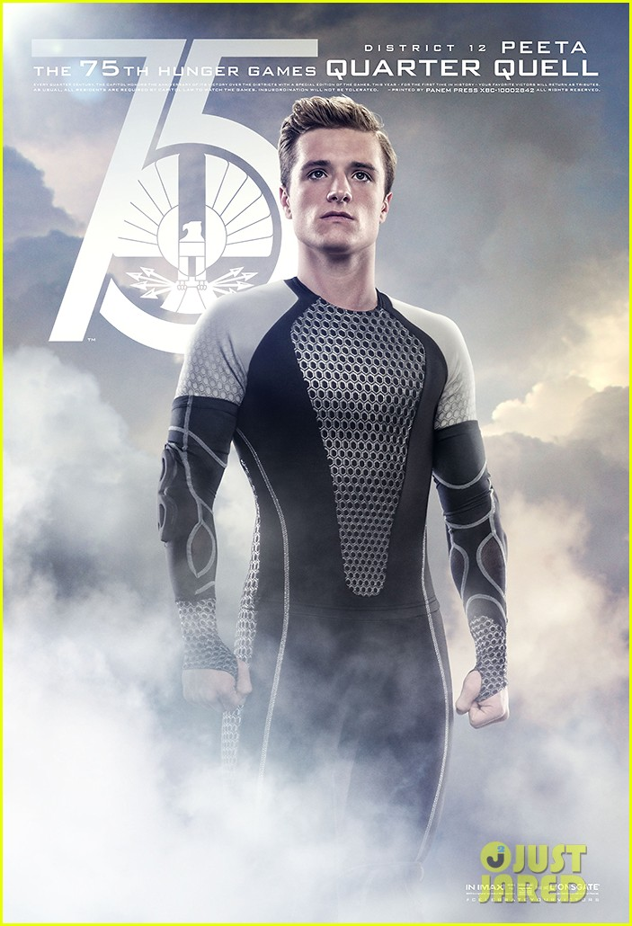 jennifer lawrence josh hutcherson new catching fire posters 082910384