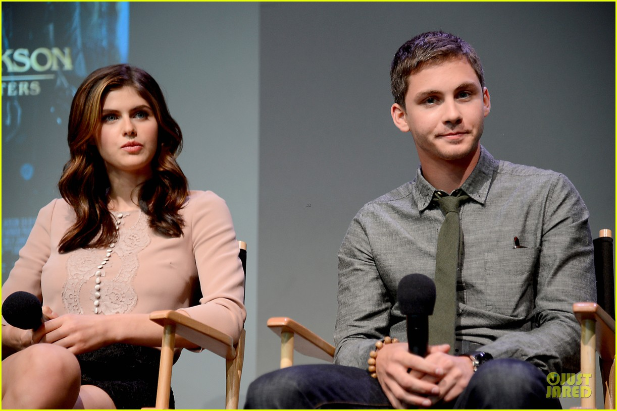 logan lerman alexandra daddario percy jackson promo at apple 042919888