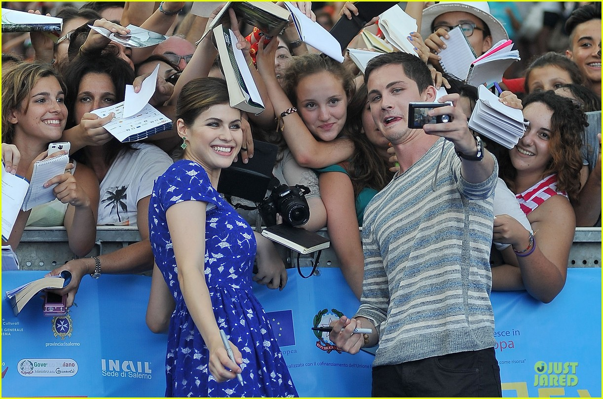 logan lerman alexandra daddario giffoni film festival attendees 04
