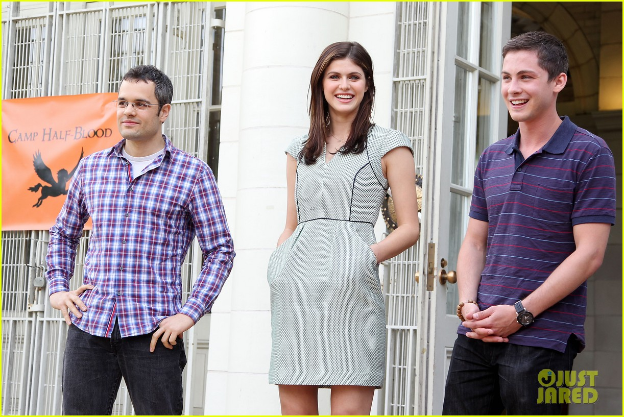 logan lerman alexandra daddario percy jackson press day 222917583