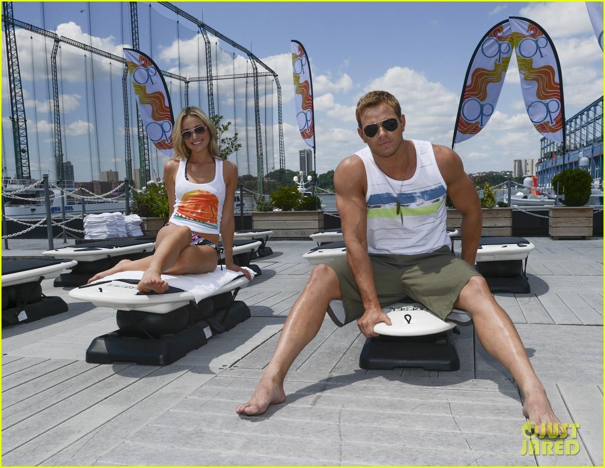 kellan lutz katrina bowden ops surf for life event hosts 142920245
