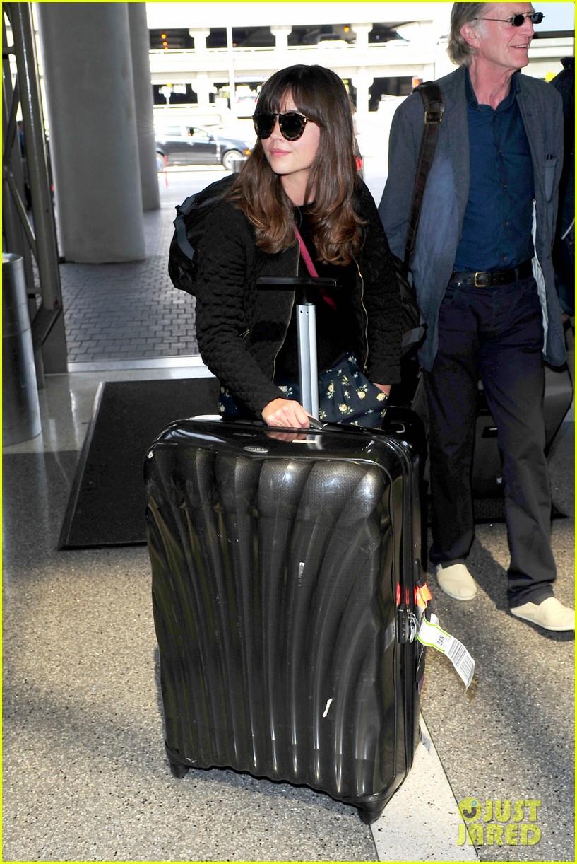 richard madden jenna coleman lots of luggage at lax 132917830