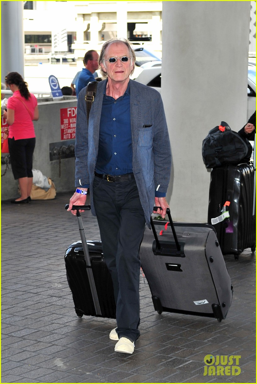 richard madden jenna coleman lots of luggage at lax 182917835