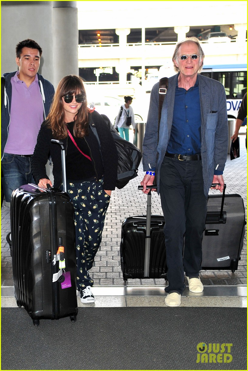 richard madden jenna coleman lots of luggage at lax 192917836