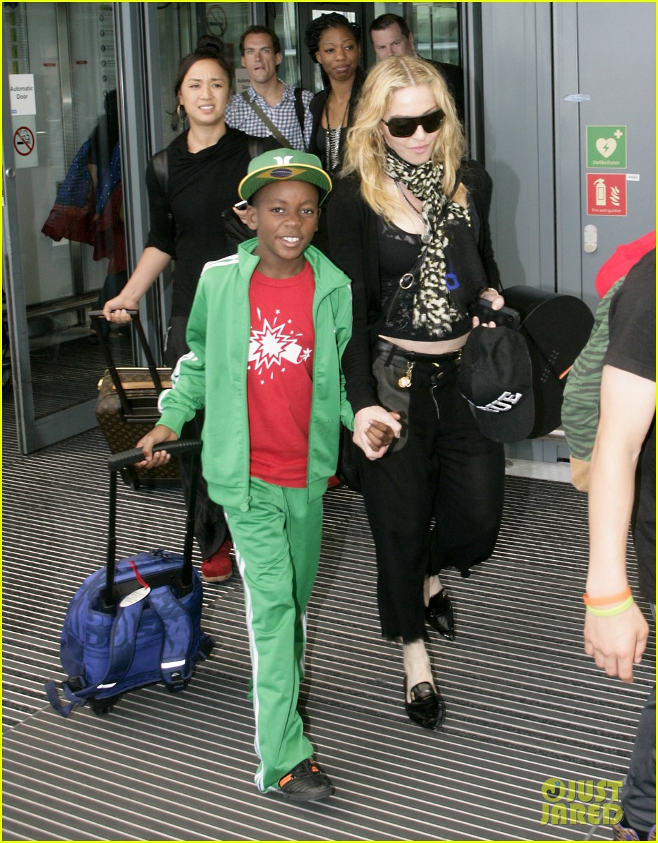 madonna lands in london with david mercy 022912325
