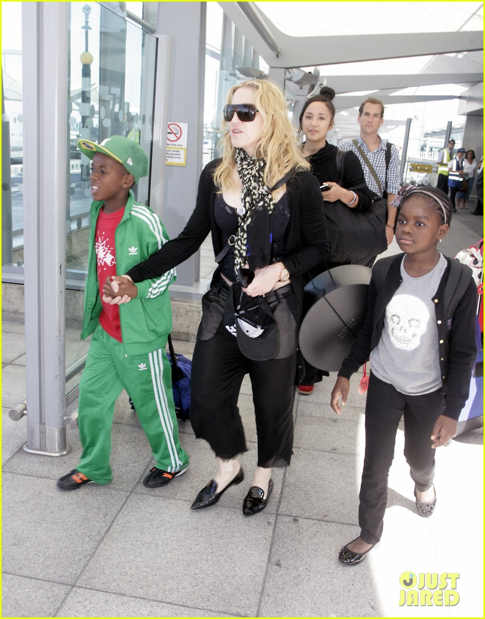 madonna lands in london with david mercy 062912329