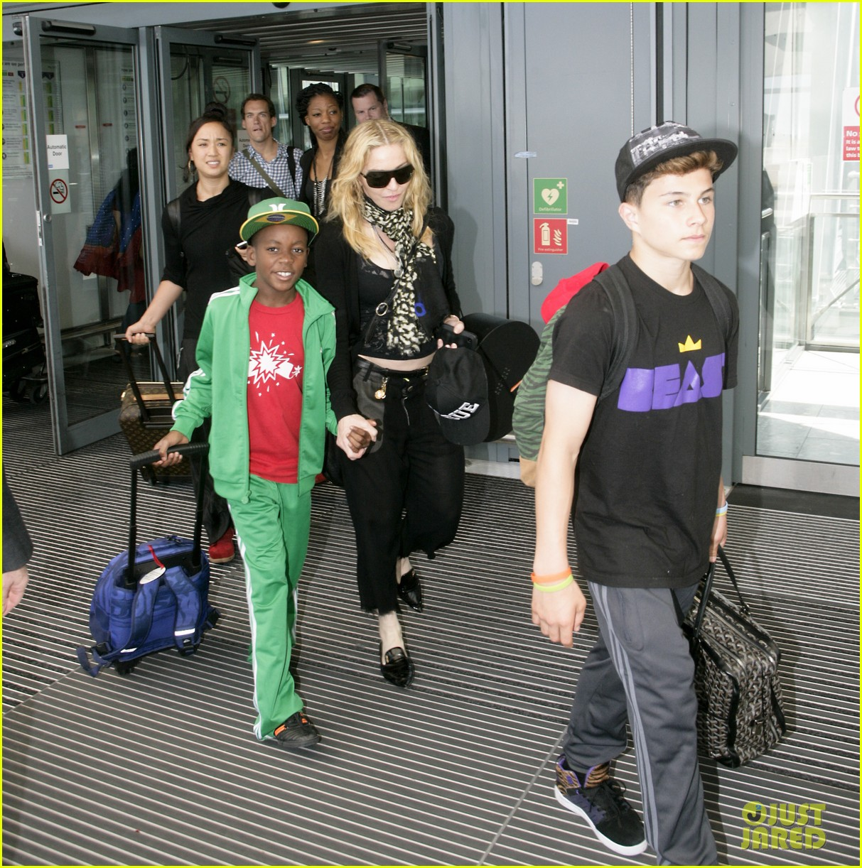 madonna lands in london with david mercy 07