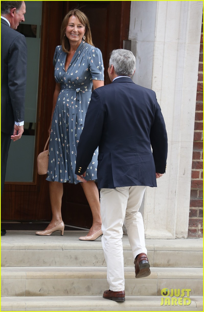 royal baby carol michael middleton visit newborn grandchild 062915096