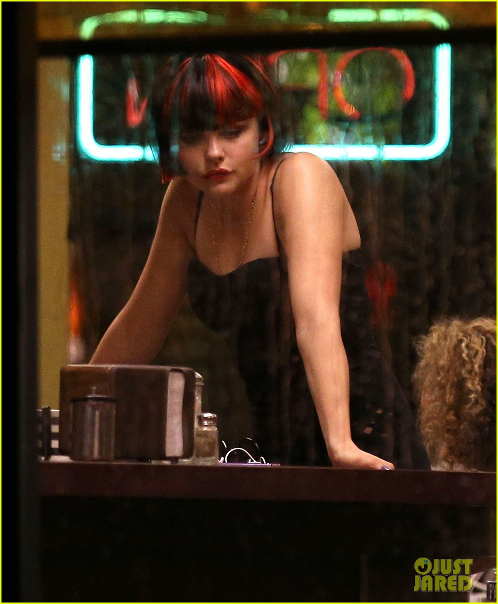 chloe moretz wears multi colored wig for equalizer filming 022912063