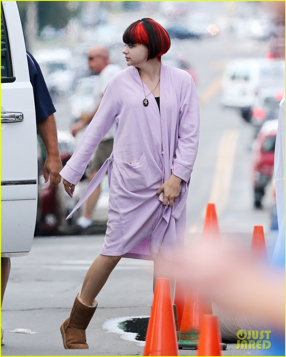 chloe moretz wears multi colored wig for equalizer filming 032912064
