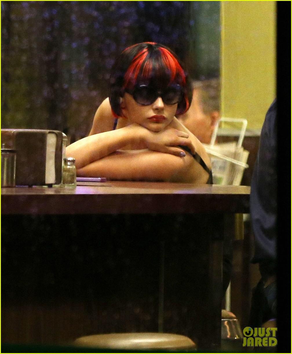 chloe moretz wears multi colored wig for equalizer filming 042912065
