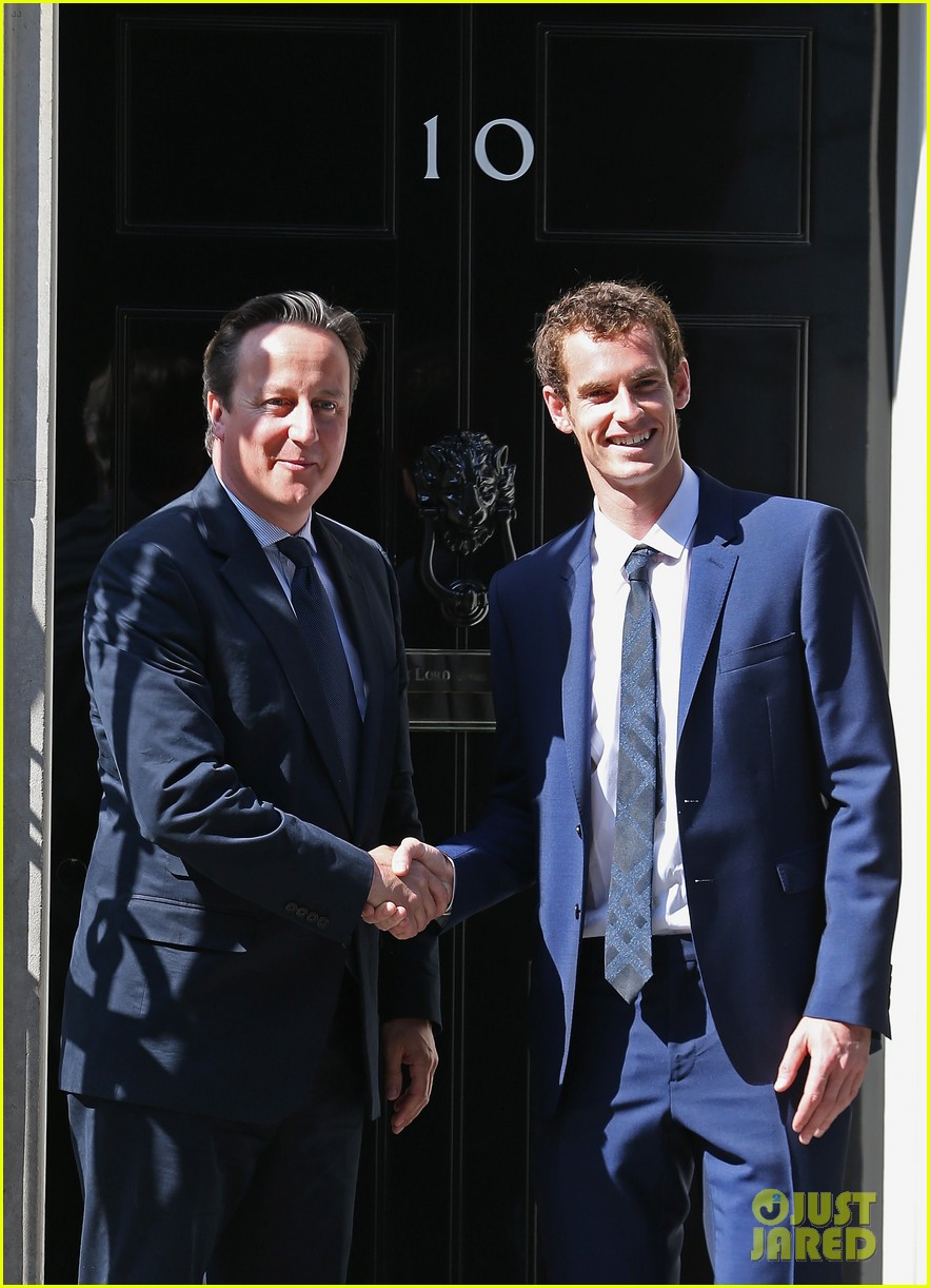 andy murray meets david cameron after wimbledon win 022905996