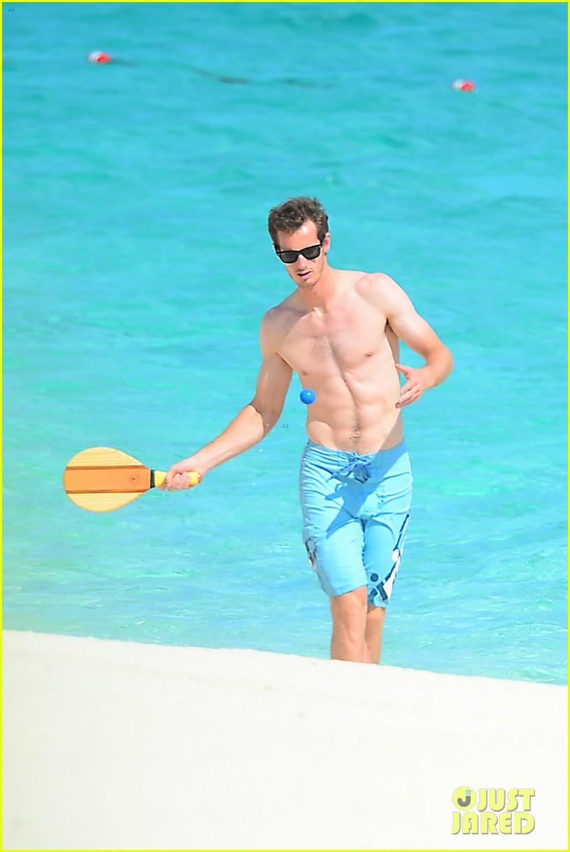 shirtless andy murray ibiza beach besos with kim sears 302909846