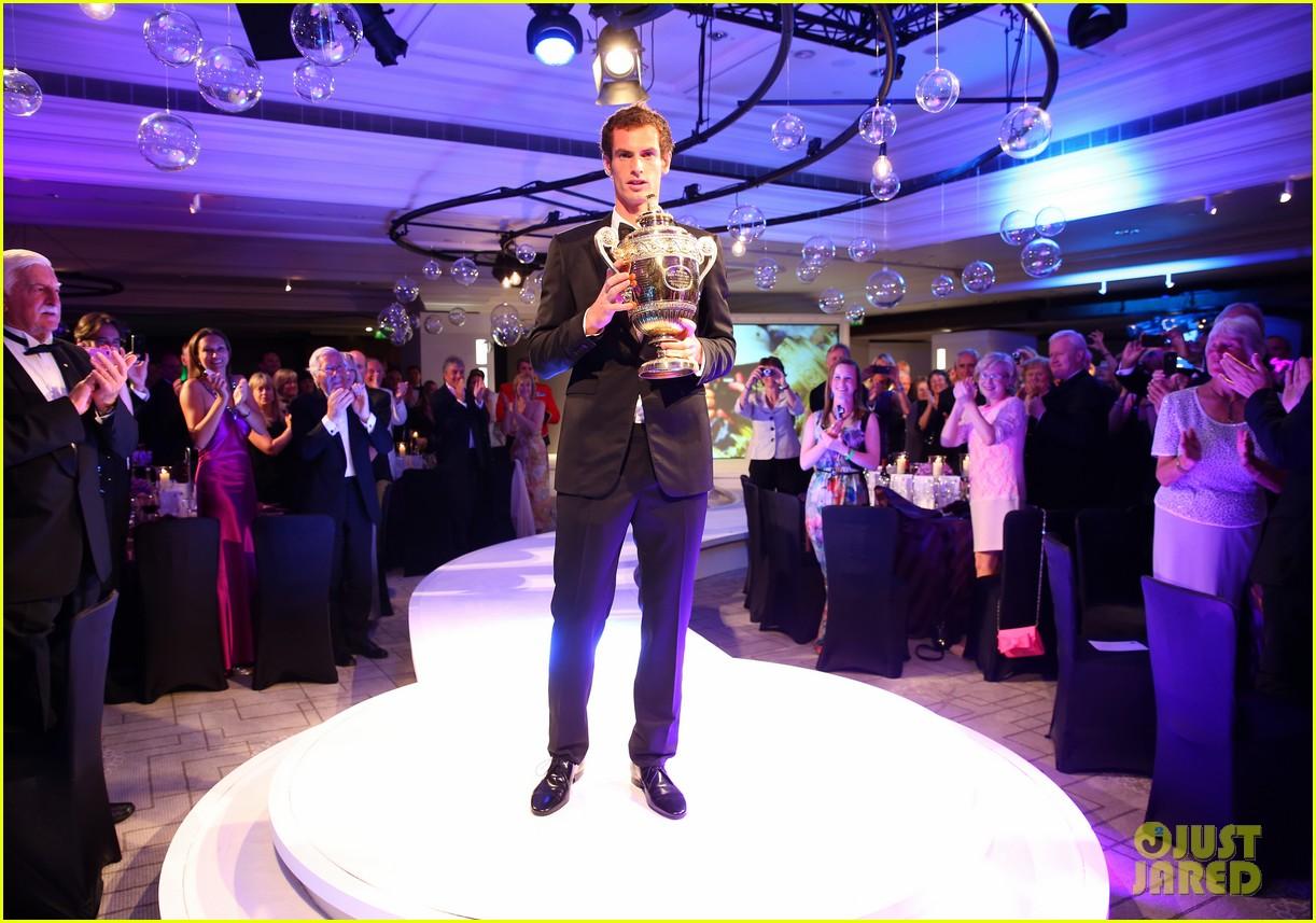 andy murray wimbledons winners ball with kim sears 052905705
