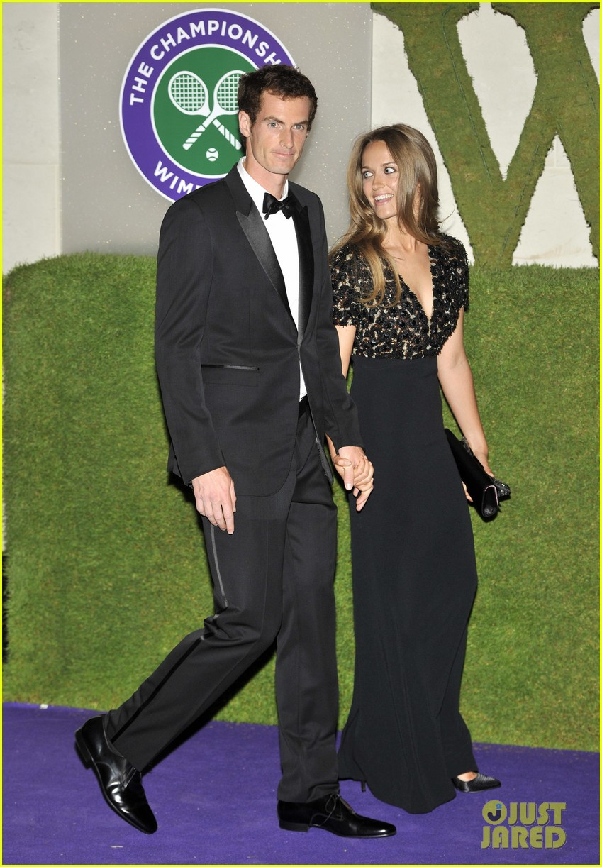 andy murray wimbledons winners ball with kim sears 082905708
