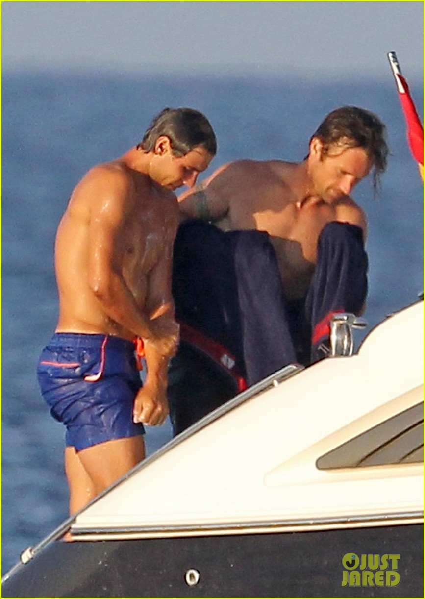rafael nadal shirtless yacht ride with pals 022916618