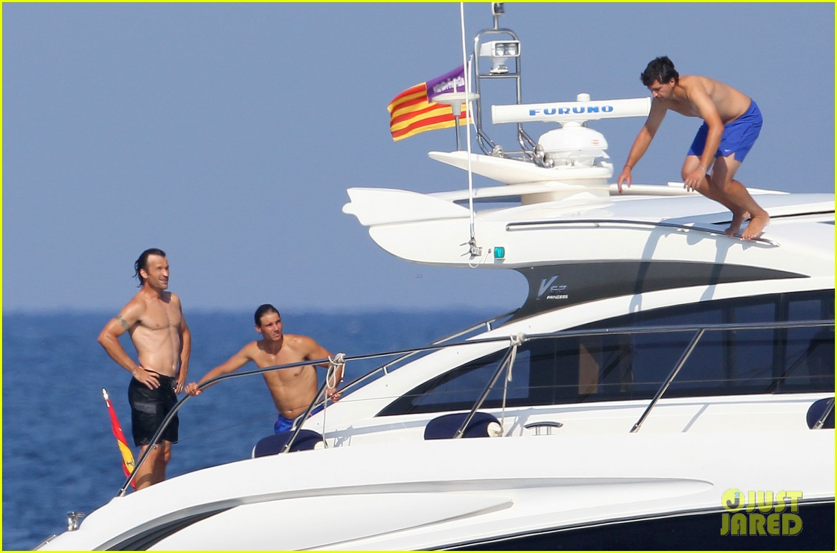 rafael nadal shirtless yacht ride with pals 072916623