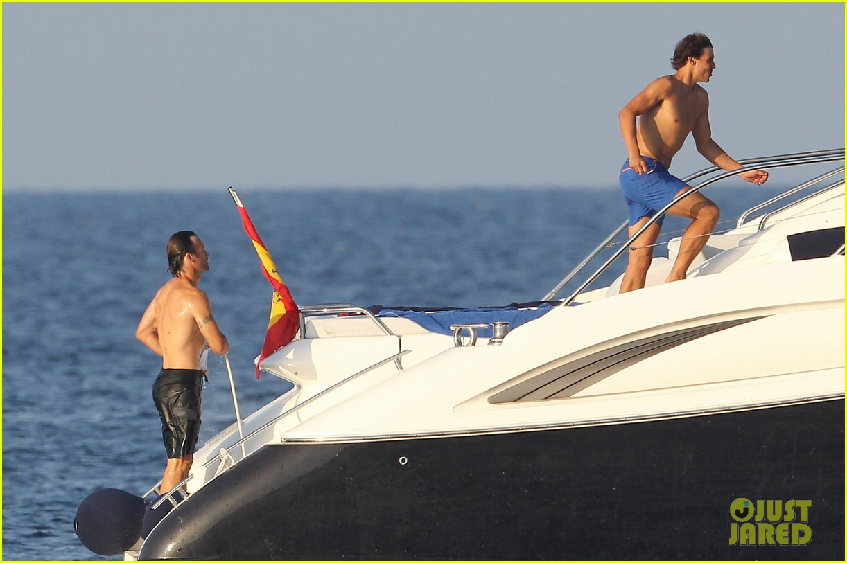 rafael nadal shirtless yacht ride with pals 092916625