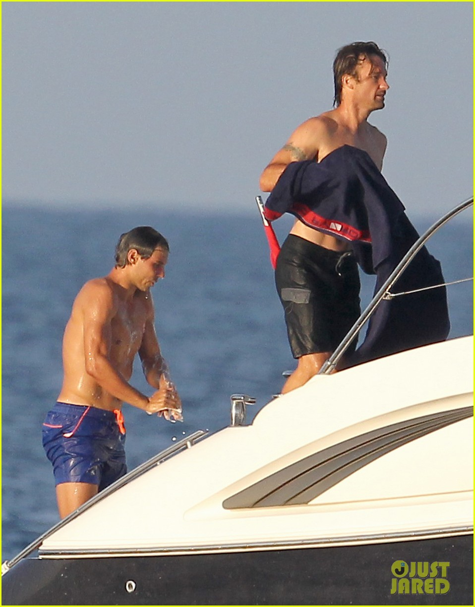 rafael nadal shirtless yacht ride with pals 112916627