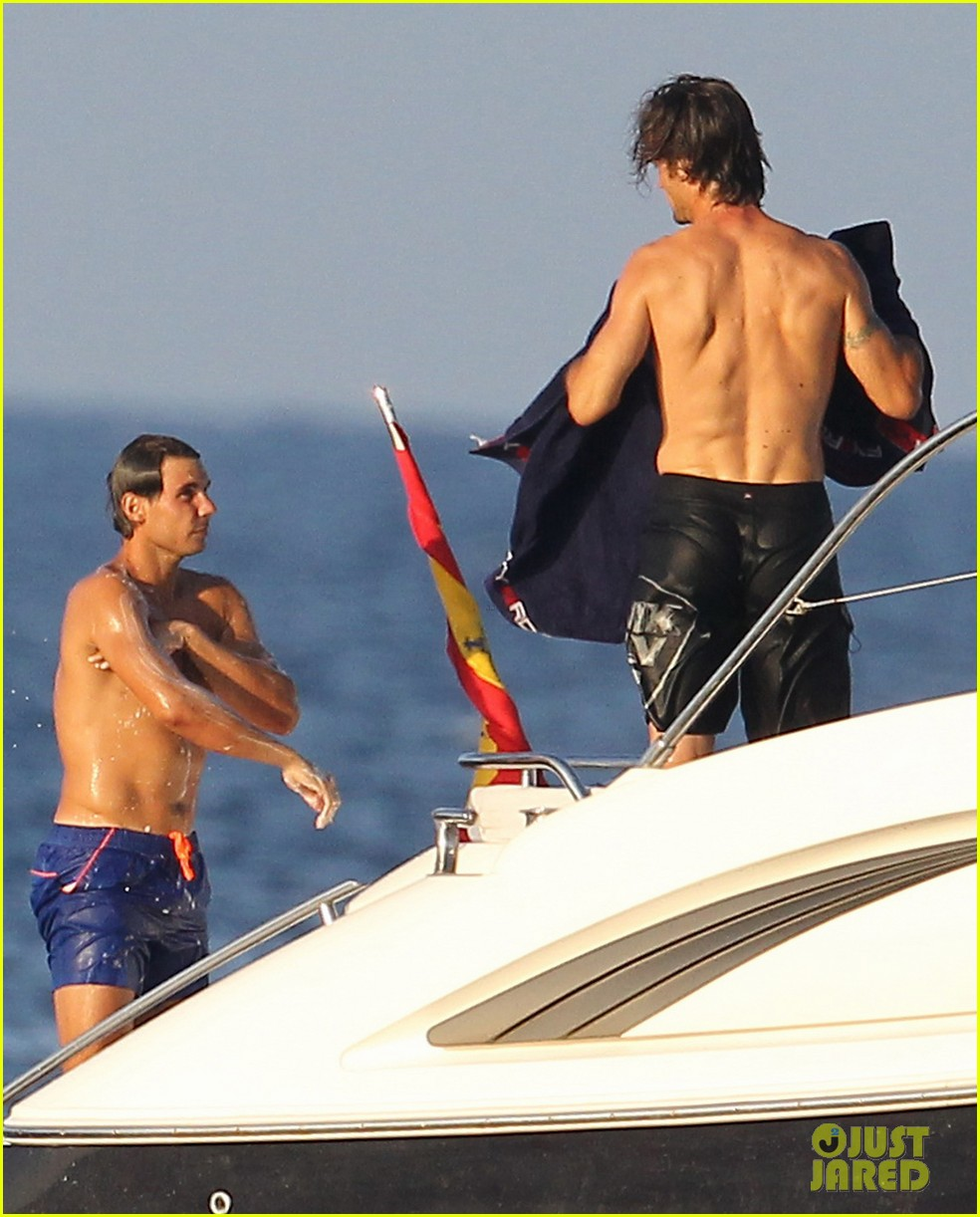 rafael nadal shirtless yacht ride with pals 122916628