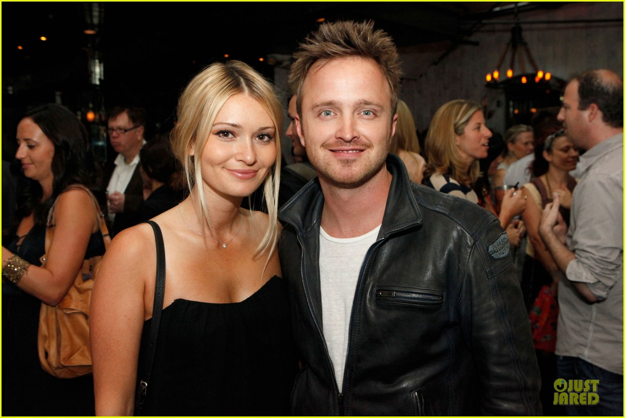 aaron paul lauren parsekian los angeles confidential event 022908543