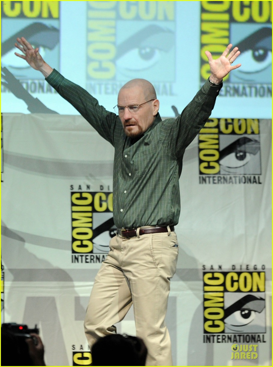 aaron paul bryan cranston breaking bad panel at comic con 092914273