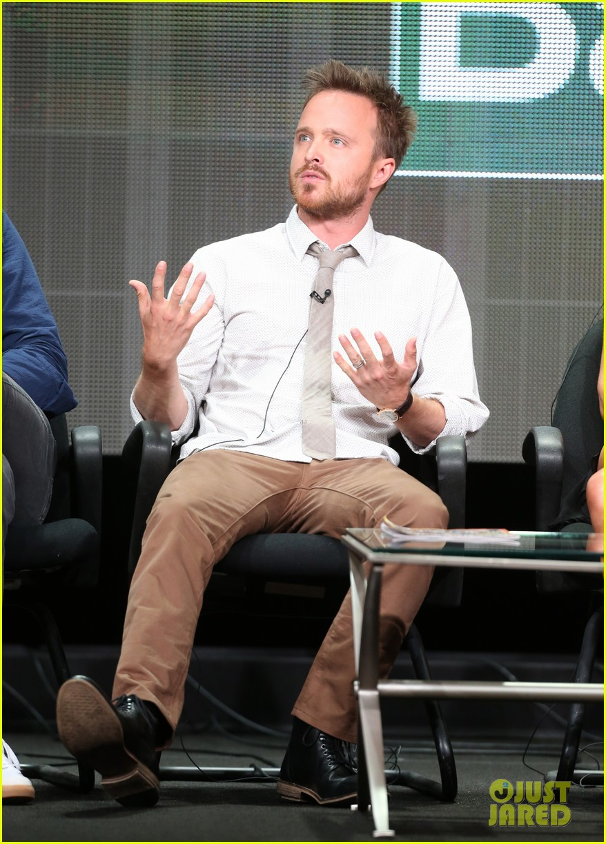 aaron paul graciously greets fans outside his home video 182917751