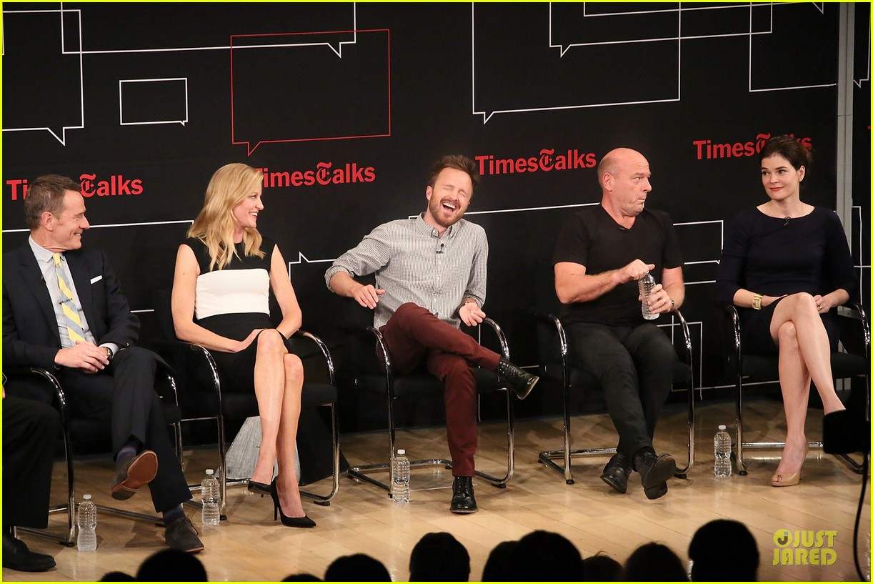 aaron paul bryan cranston breaking  bad promo at timestalk 152920558