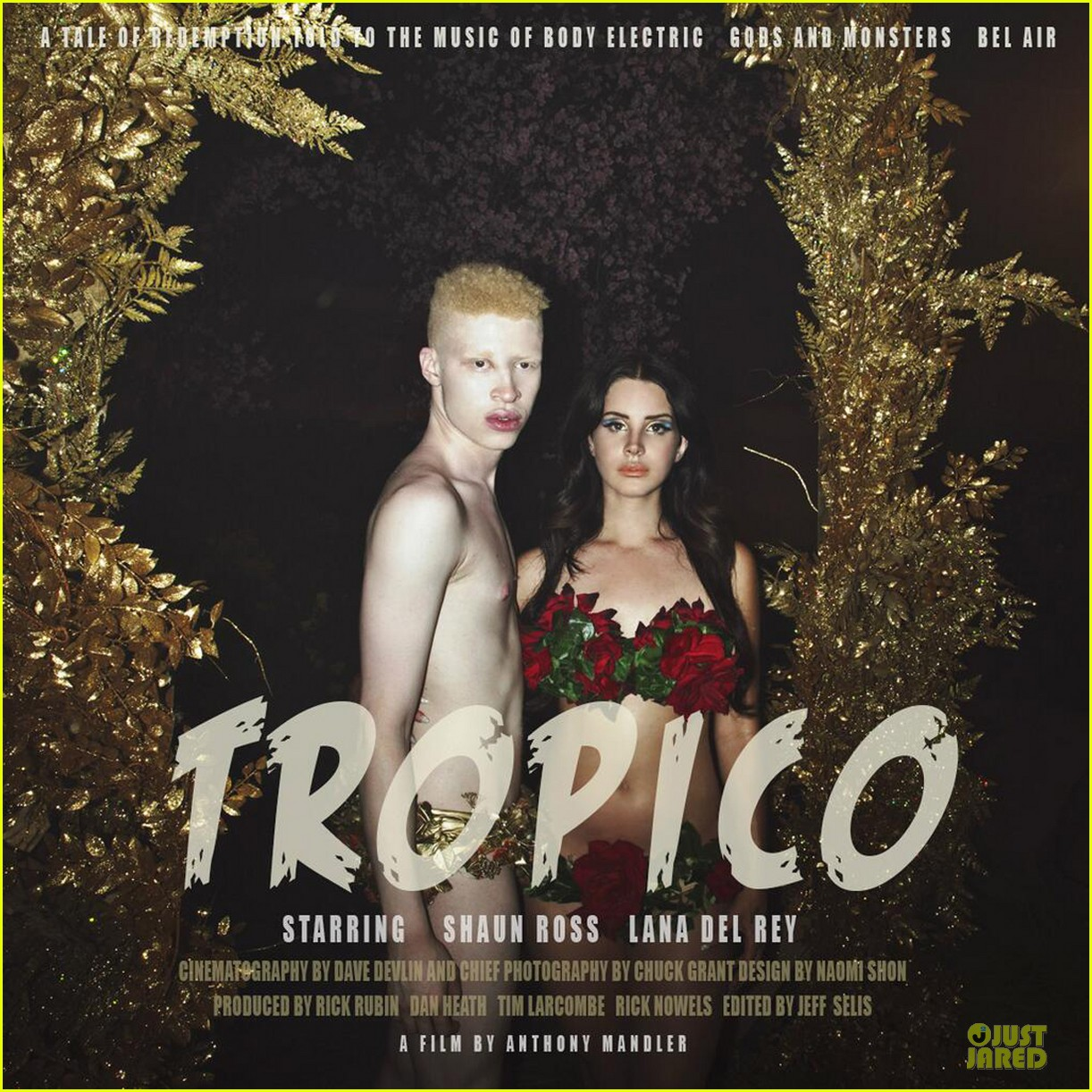lana del rey tropico artwork with shirtless shaun ross 012919774