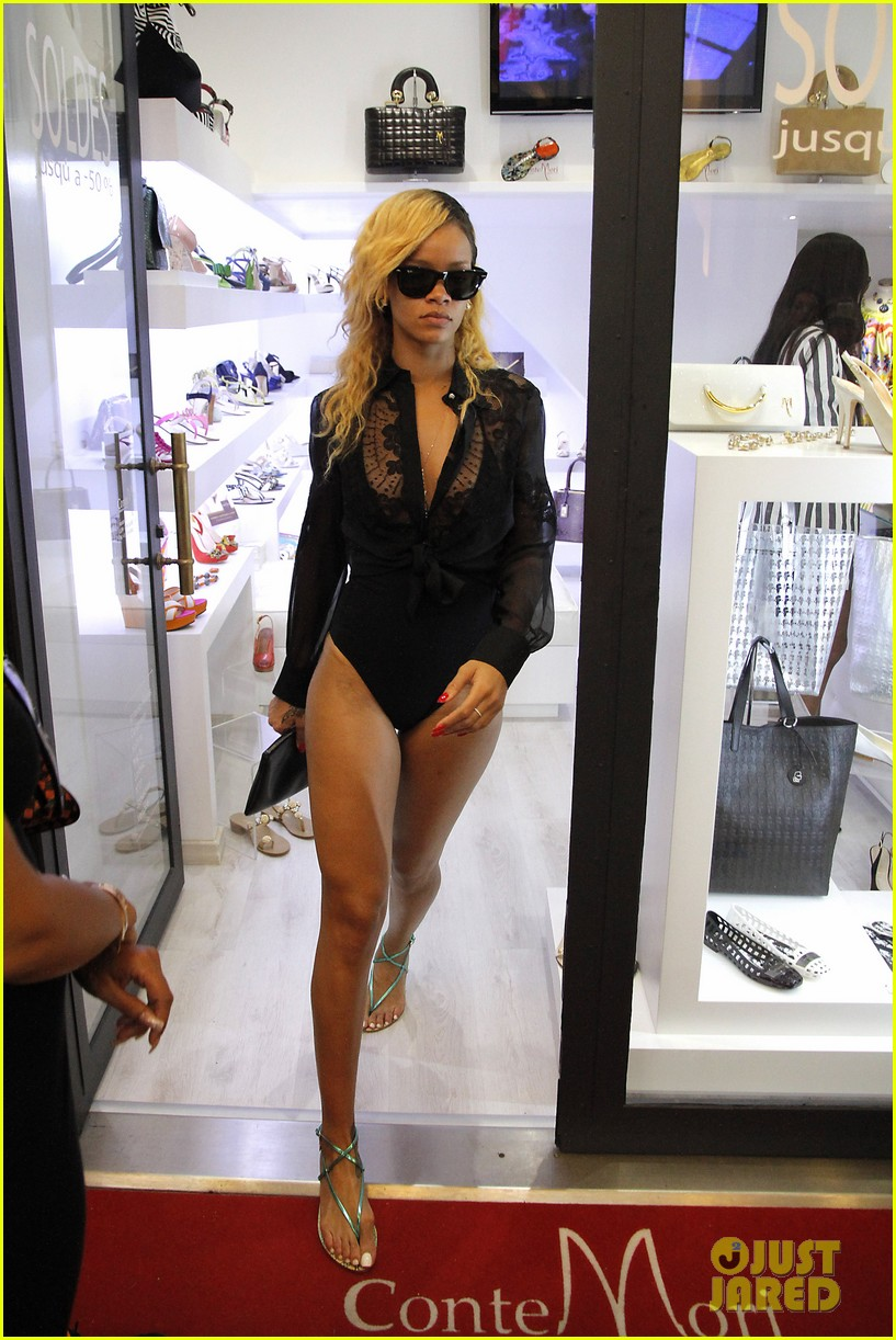 rihanna wears bathing suit while shopping in monaco 02