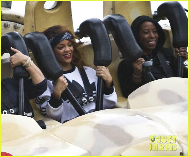 rihanna rides roller coaster at tivoli gardens 012904582
