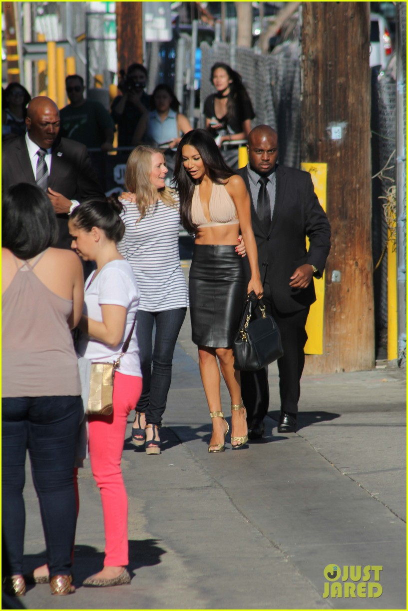 naya rivera jimmy kimmel live visit with backstreet boys 042920792