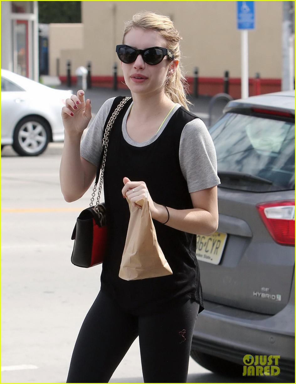 emma roberts steps out after evan peters domestic violence charges 02