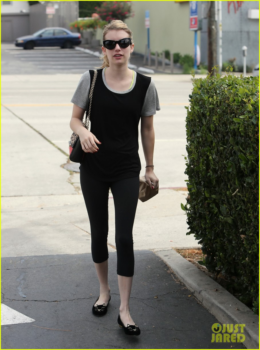 emma roberts steps out after evan peters domestic violence charges 112910892