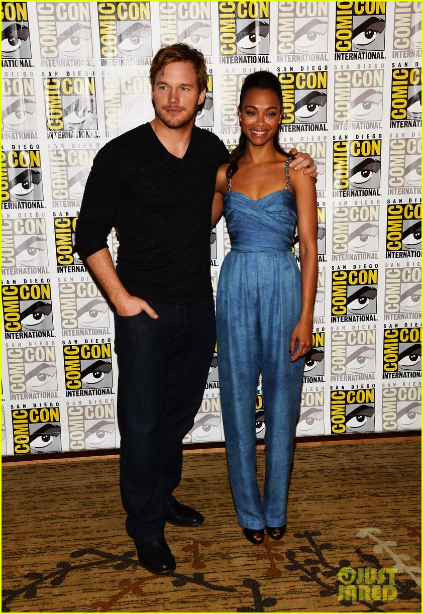 chris pratt zoe saldana guardians of the galaxy comic con panel 202913482