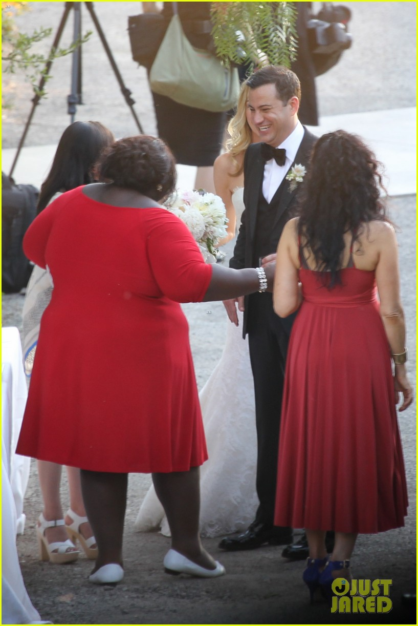 gabourey sidibe wears bridal gown to jimmy kimmel wedding 012909897