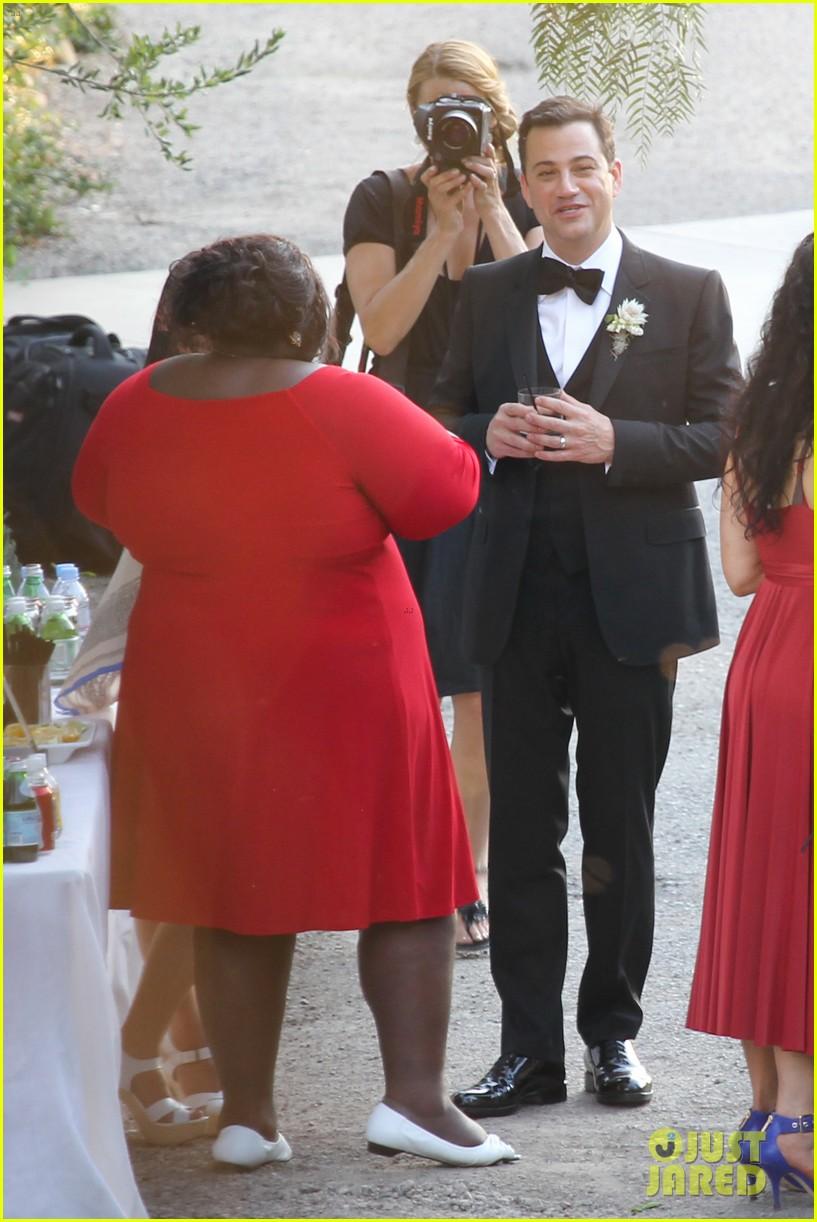 gabourey sidibe wears bridal gown to jimmy kimmel wedding 102909906
