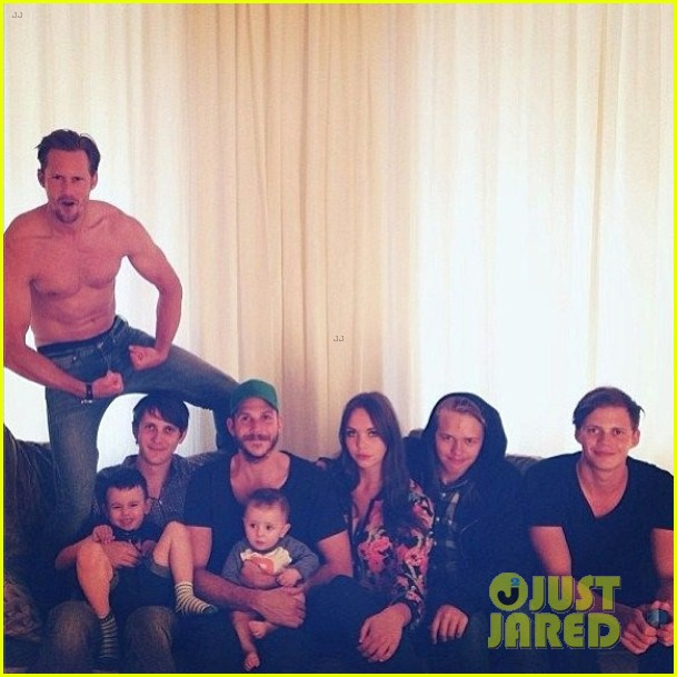 alexander skarsgard goes shirtless in family portrait2901968