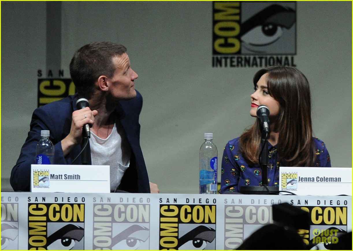matt smith doctor who panel at comic con 112914139