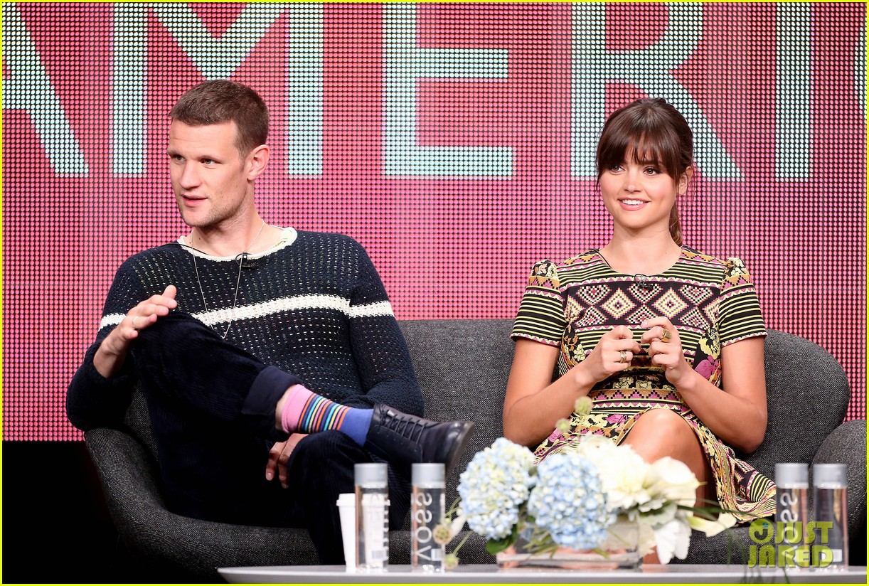 matt smith jenna louise coleman dr who tca panel 012916714